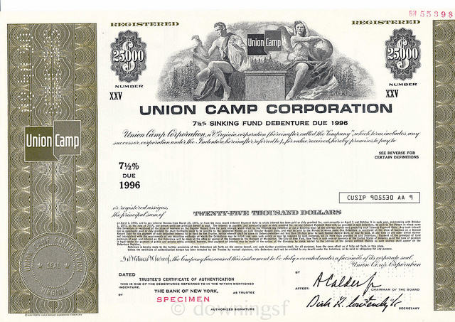 Union Camp Company Bond