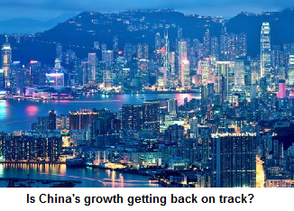 Is China's growth getting back on track?
