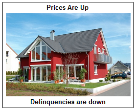 Prises are up; delinquencies are down